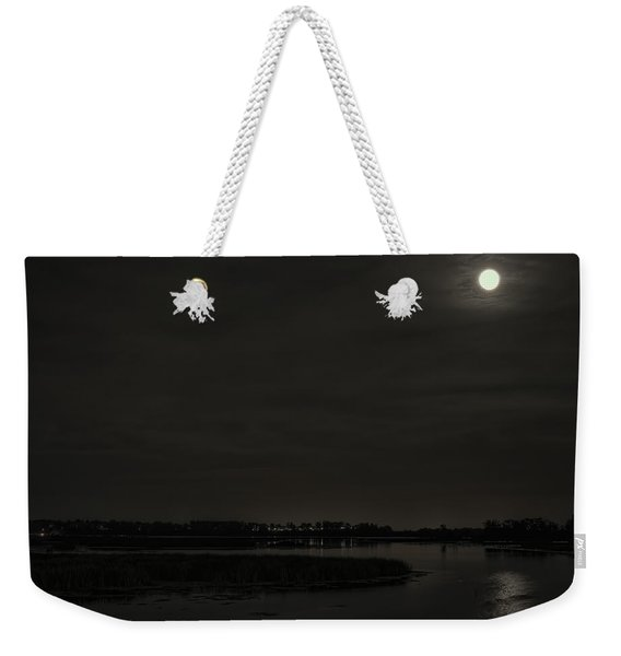 August Full Moon Over Lake Wausau Weekender Tote Bag