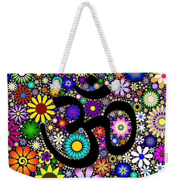Aum Flowers Weekender Tote Bag