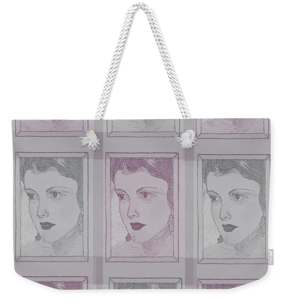 Aunt Edie Print Weekender Tote Bag
