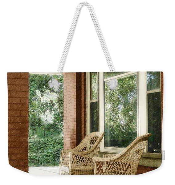 Aunt Jane's Porch Weekender Tote Bag