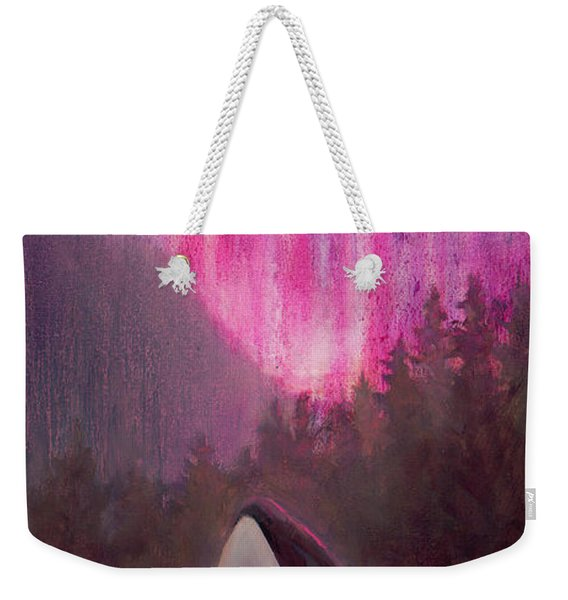 Orca Whale And Aurora Borealis - Killer Whale - Northern Lights - Seascape - Coastal Art Weekender Tote Bag