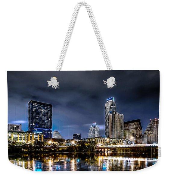 Austin Skyline Hdr Weekender Tote Bag