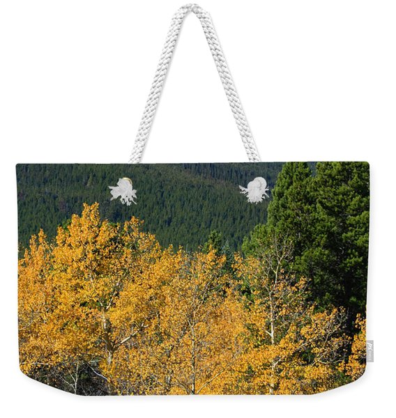Autumn Aspens And Longs Peak Weekender Tote Bag