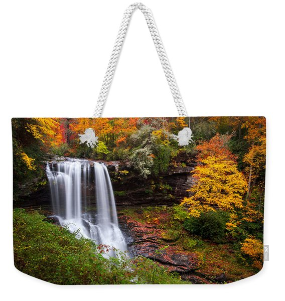 Autumn At Dry Falls - Highlands Nc Waterfalls Weekender Tote Bag
