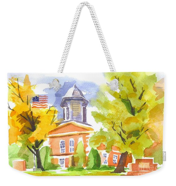 Autumn At The Courthouse Weekender Tote Bag