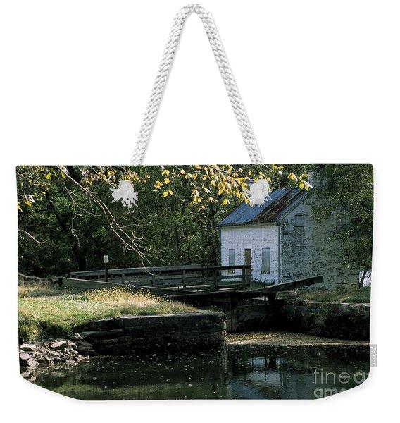 Autumn At The Lockhouse Weekender Tote Bag