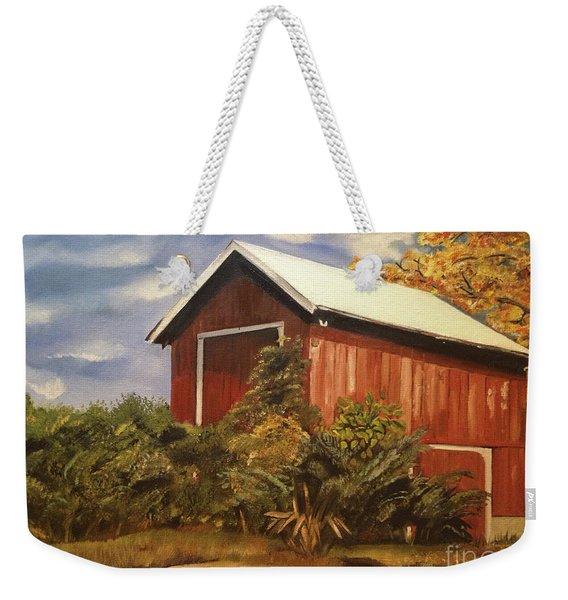 Autumn - Barn - Ohio Weekender Tote Bag