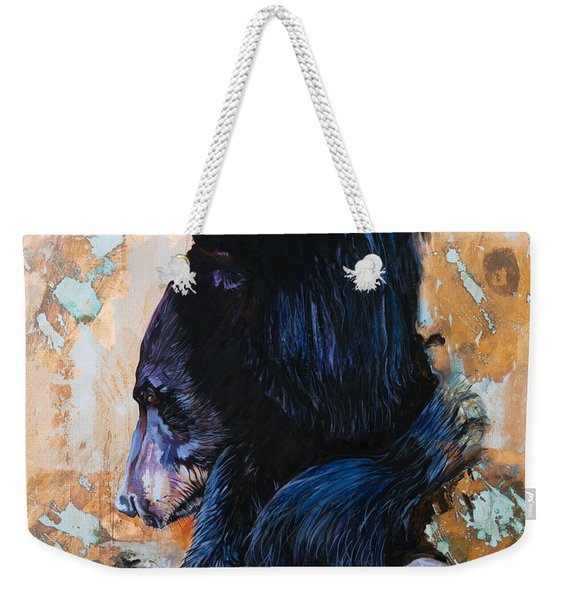 Autumn Bear Weekender Tote Bag
