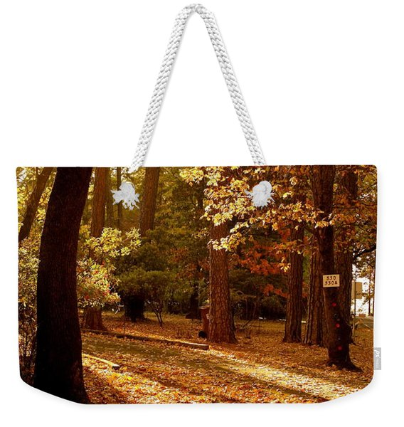 Autumn Country Lane Evening Weekender Tote Bag