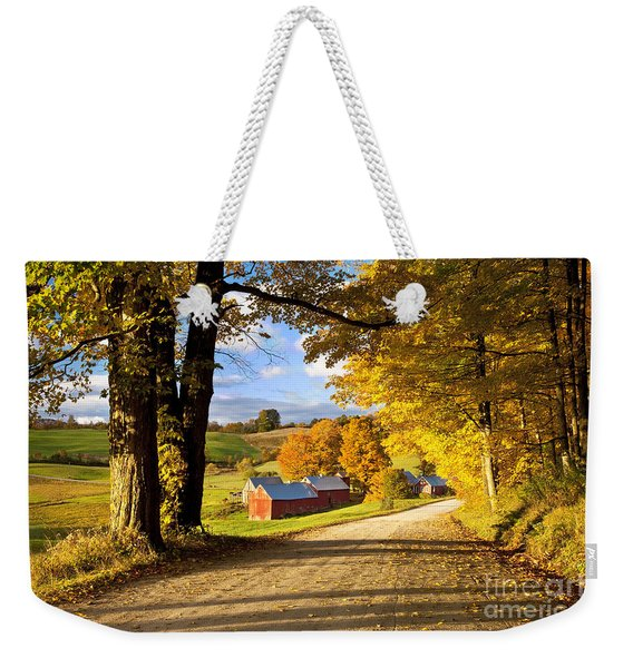 Weekender Tote Bag featuring the photograph Autumn Farm In Vermont by Brian Jannsen