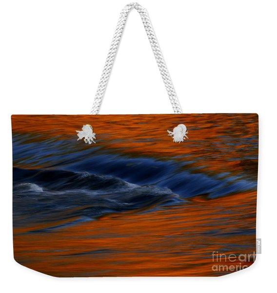 Autumn River Georgia Weekender Tote Bag