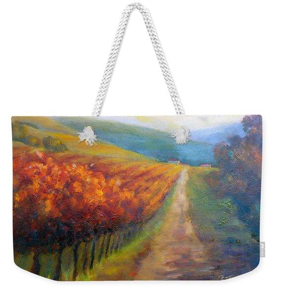 Autumn In The Vineyard Weekender Tote Bag