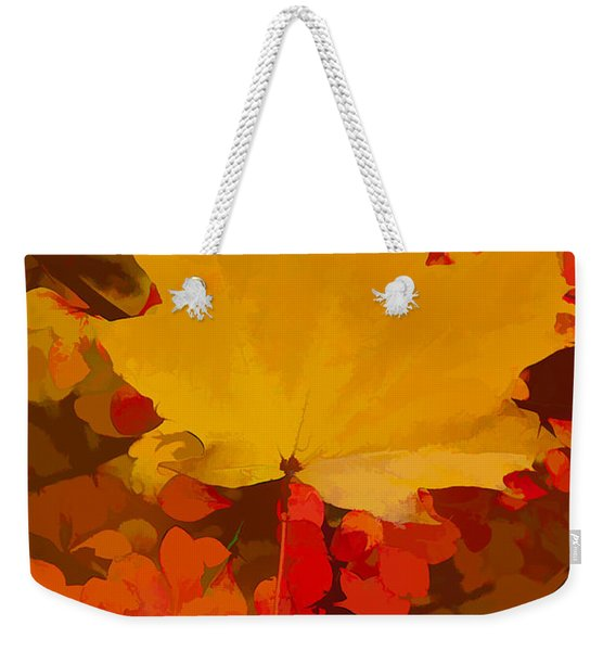 Weekender Tote Bag featuring the photograph Autumn Is A State Of Mind More Than A Time Of Year by Jeff Folger