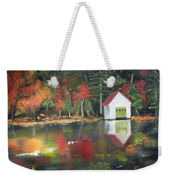 Autumn - Lake - Reflecton Weekender Tote Bag