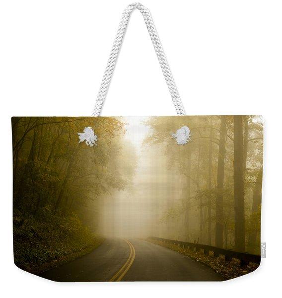 Autumn Mist Blue Ridge Parkway Weekender Tote Bag