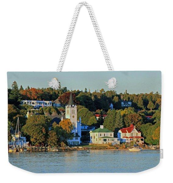 Autumn On Mackinac Island Weekender Tote Bag
