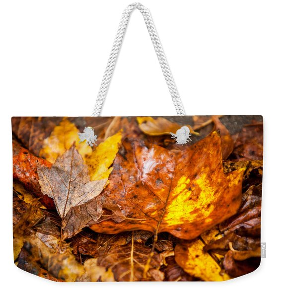 Autumn Pile Weekender Tote Bag