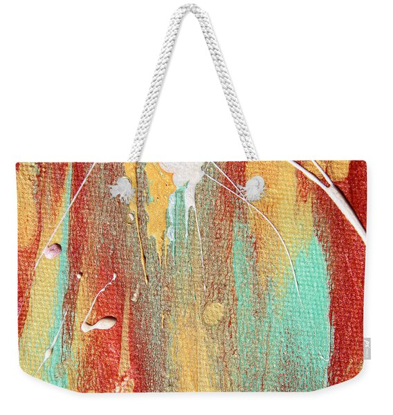 Autumn Rain Abstract Painting Weekender Tote Bag