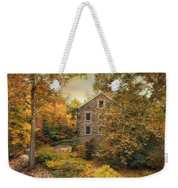 Autumn Stone Mill Weekender Tote Bag