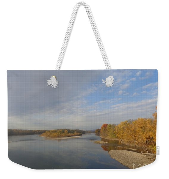 Autumn Sun At The River Weekender Tote Bag