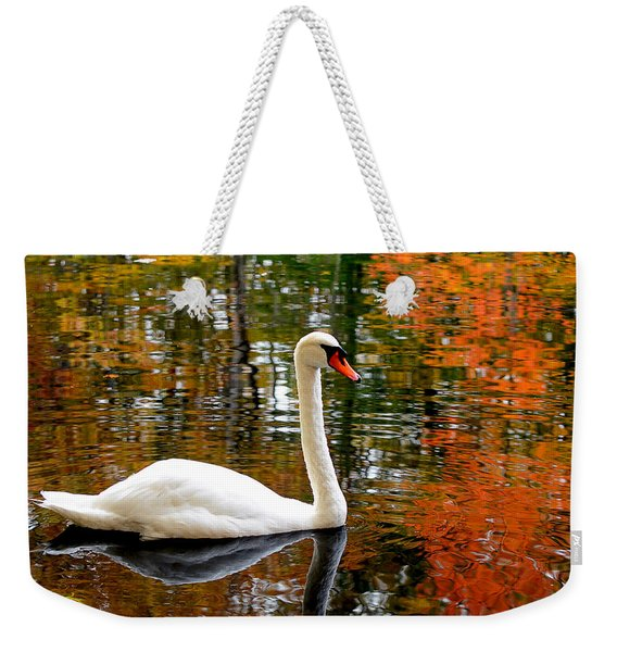 Autumn Swan Weekender Tote Bag