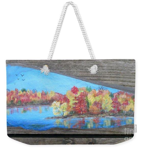 Autumn Trees1 Weekender Tote Bag
