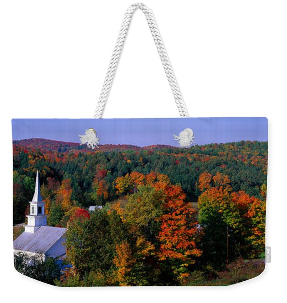 Autumn, Waits River, Vermont, Usa Weekender Tote Bag