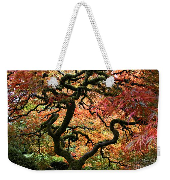 Autumn's Fire Weekender Tote Bag