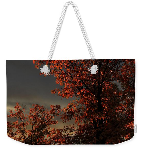 Autumn's First Light Weekender Tote Bag