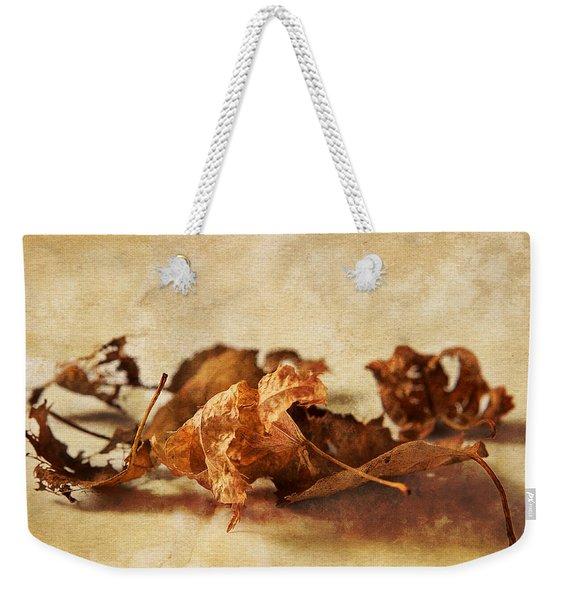 Autumn's Leavings Weekender Tote Bag