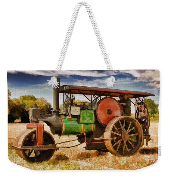 Aveling Porter Road Roller Weekender Tote Bag