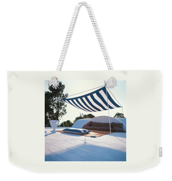 Awning At The Vacation Home Of Gaston Berthelot Weekender Tote Bag