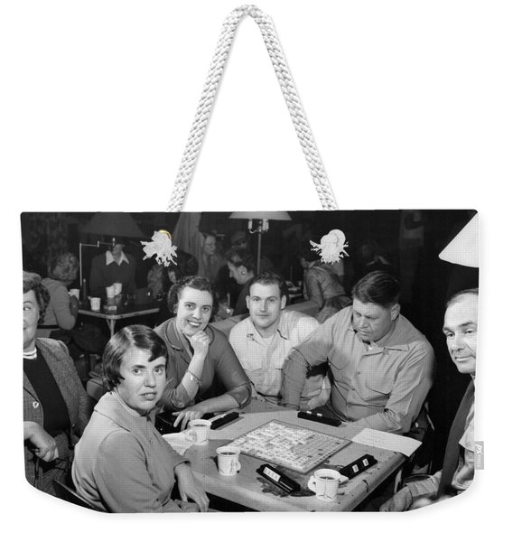 Awvs Family Night Scrabble Weekender Tote Bag