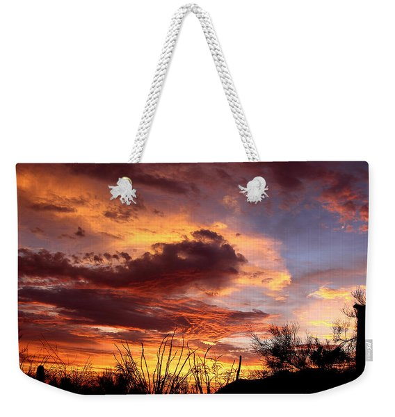 Az Monsoon Sunset Weekender Tote Bag