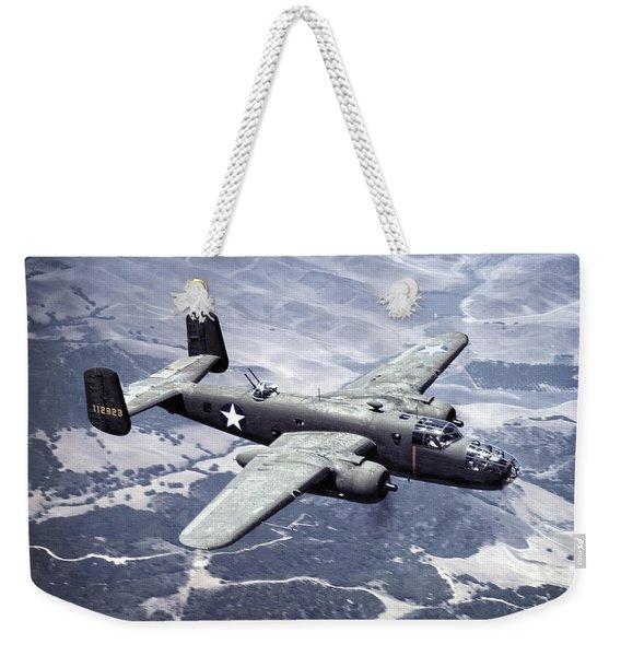 B-25 World War II Era Bomber - 1942 Weekender Tote Bag