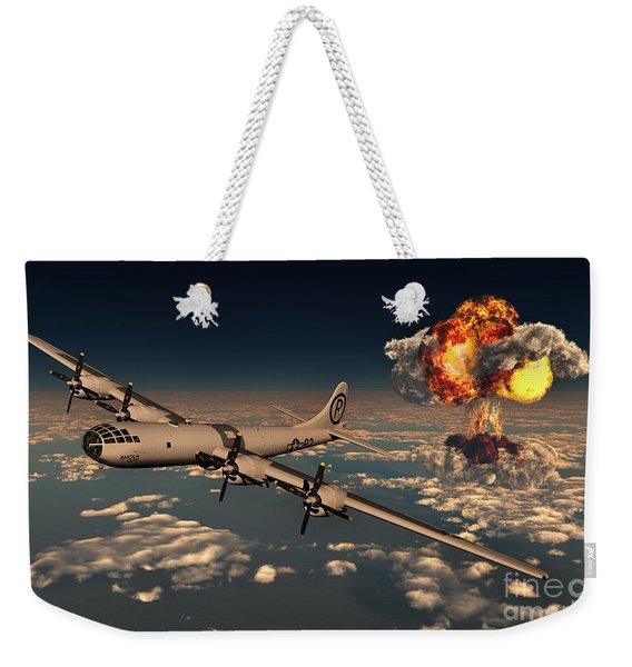 B-29 Superfortress Flying Away Weekender Tote Bag
