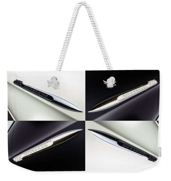 B And W Chevy Weekender Tote Bag
