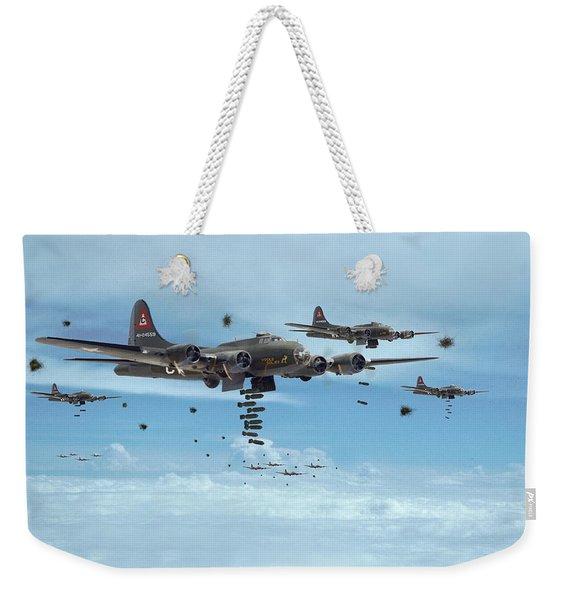 B17 - Mighty 8th Arrives Weekender Tote Bag
