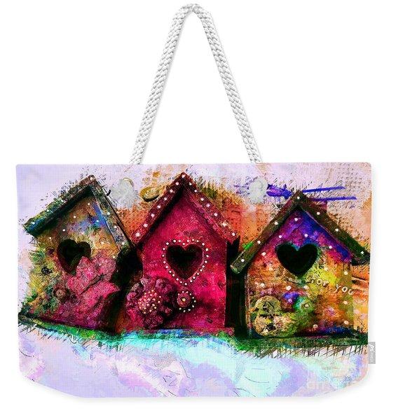 Baby Birdhouses Weekender Tote Bag