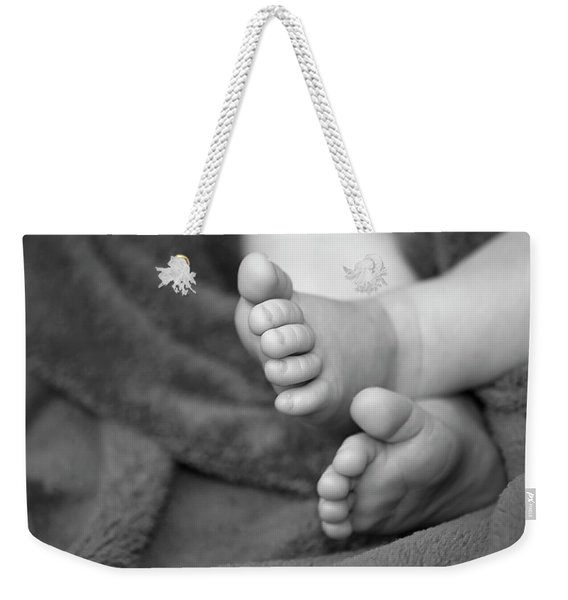 Weekender Tote Bag featuring the photograph Baby Feet by Carolyn Marshall