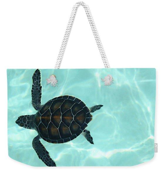 Baby Sea Turtle Weekender Tote Bag