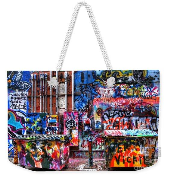 Back Alley Canvas Weekender Tote Bag