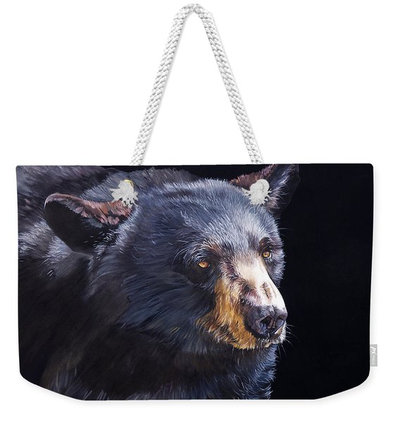 Back In Black Bear Weekender Tote Bag