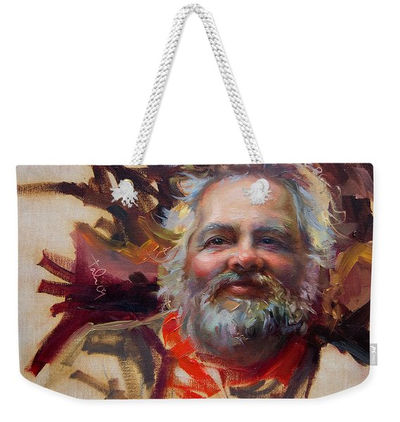 Weekender Tote Bag featuring the painting Back In Town by Talya Johnson