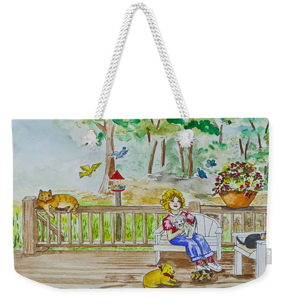 Back Porch Weekender Tote Bag