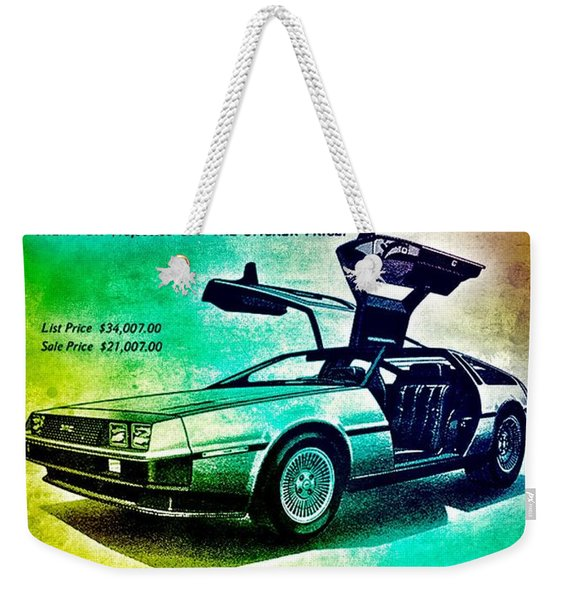 Back To The Delorean Weekender Tote Bag