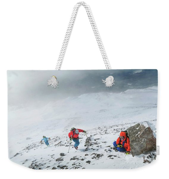 Backcountry Ski Tour To The Highest Weekender Tote Bag