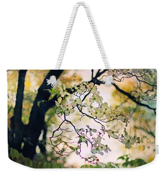Backlit Blossom Weekender Tote Bag