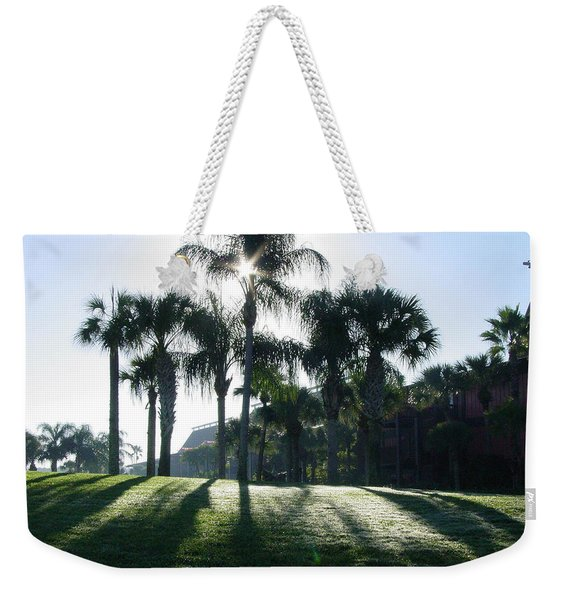 Backlit Palms Weekender Tote Bag