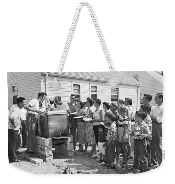 Backyard Clambake Weekender Tote Bag